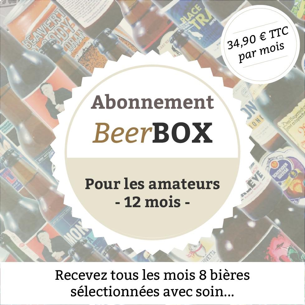 """Beerbox """"Pour les amateurs"""" - 12 mois"""