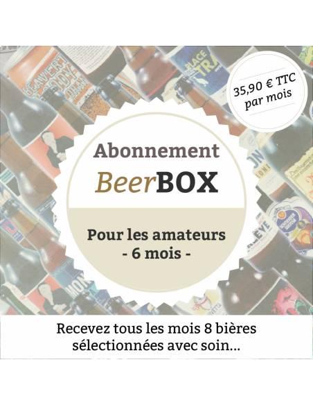 """Beerbox """"Pour les amateurs"""" - 6 mois"""