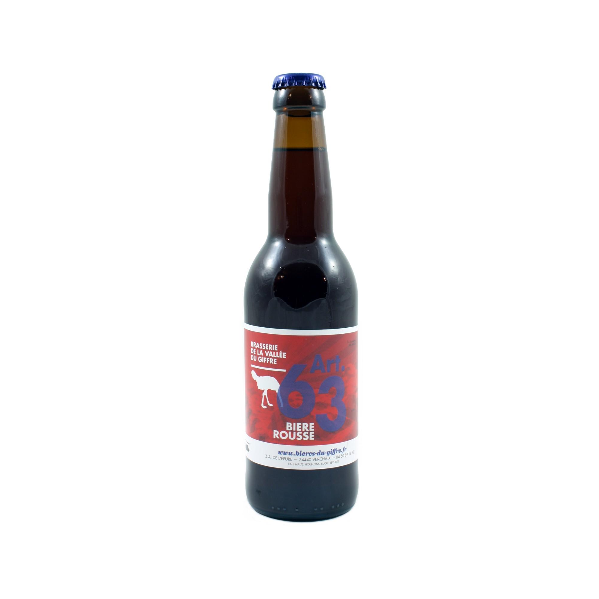 Art. 63 Bière Rousse 33 cl