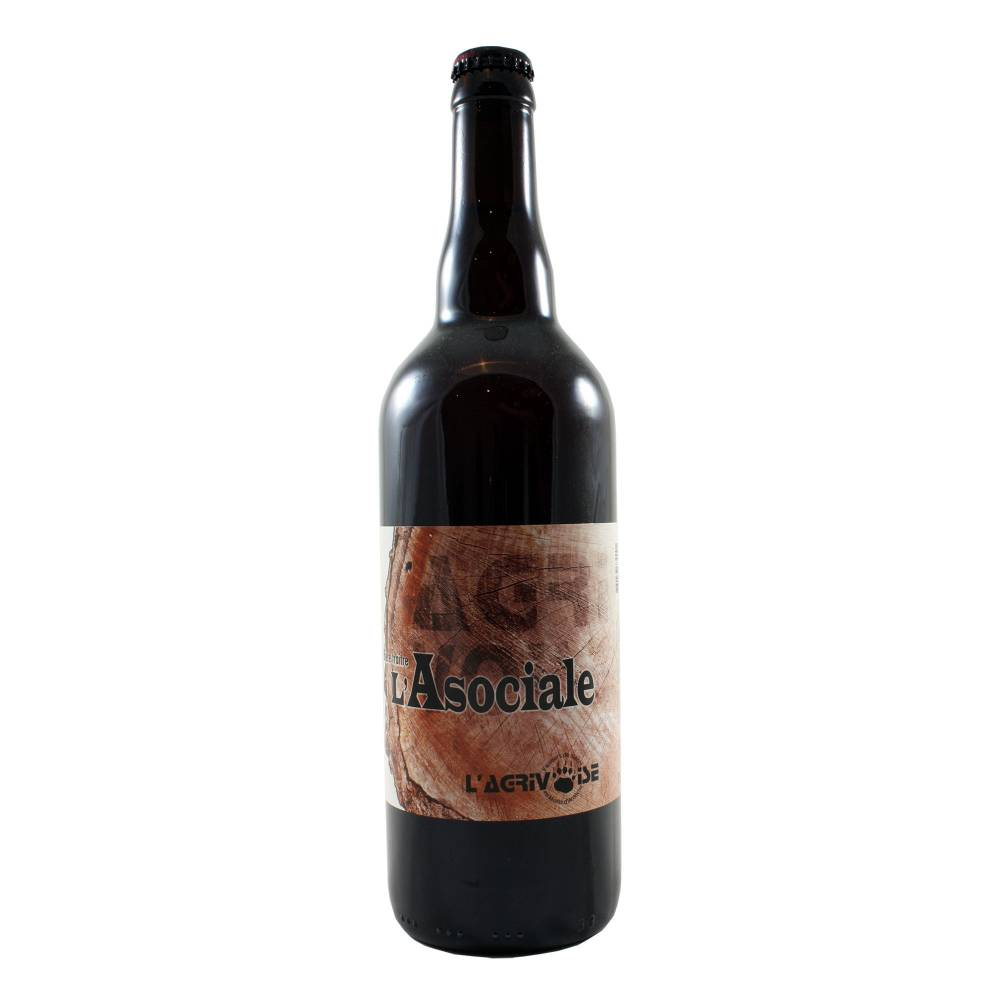 Bière L'Asociale - 75 cl - Brasserie L'Agrivoise