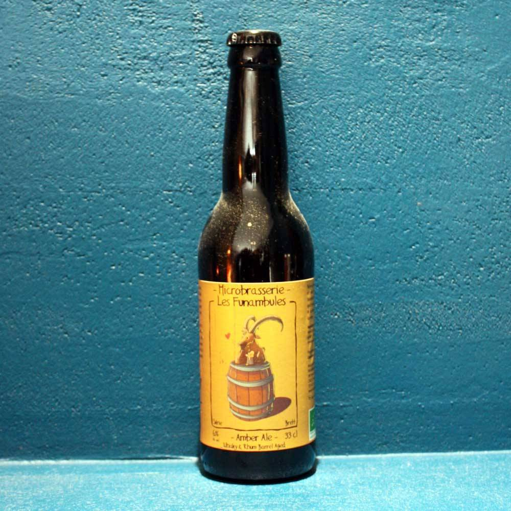 Bière Amber Ale Brett Whisky & Rhum Barrel Aged  Bière Artisanale Microbrasserie Les Funambules Bieronomy Savoie