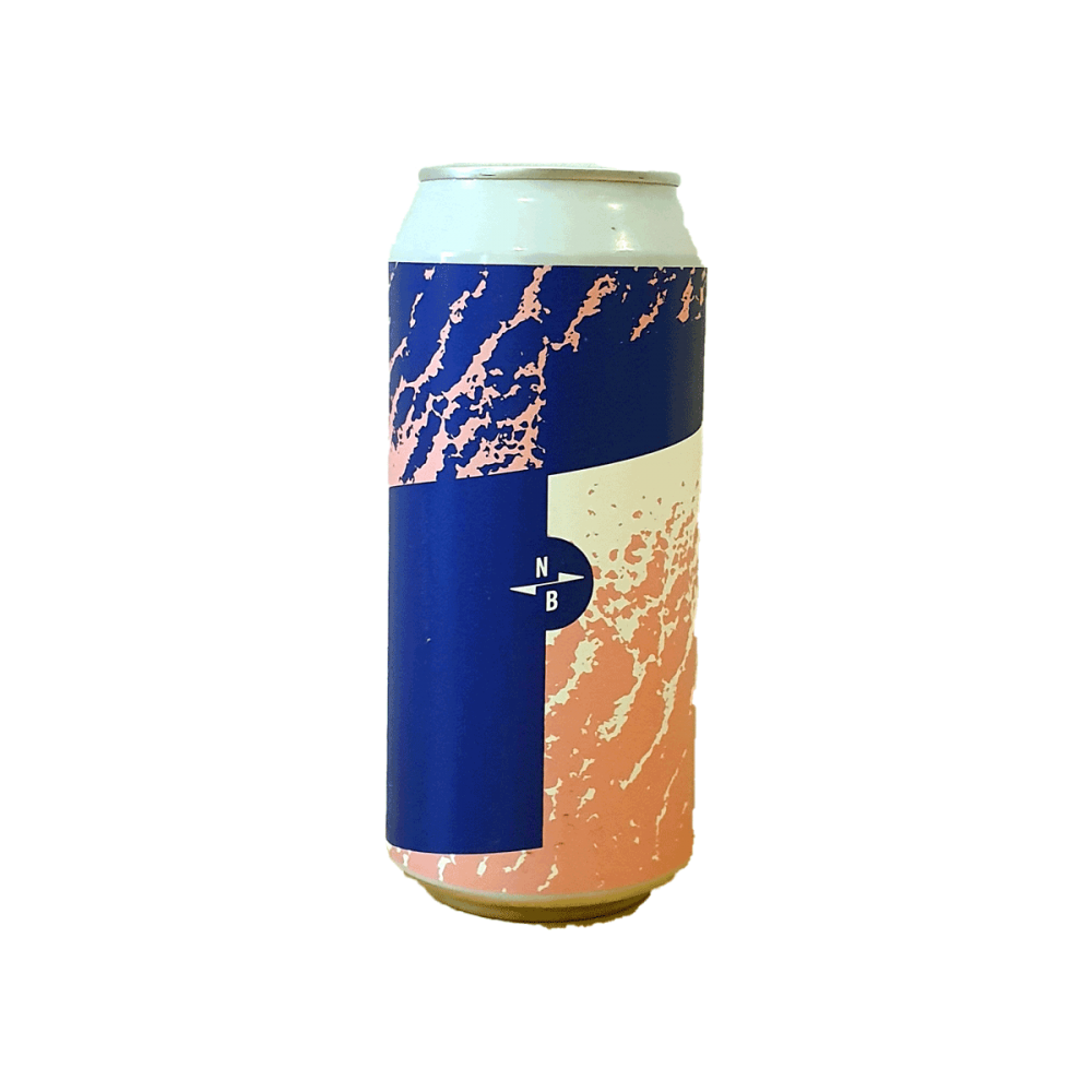 Sour IPA + Blueberries + White Peach - 44 cl - North Brewing x Boxcar