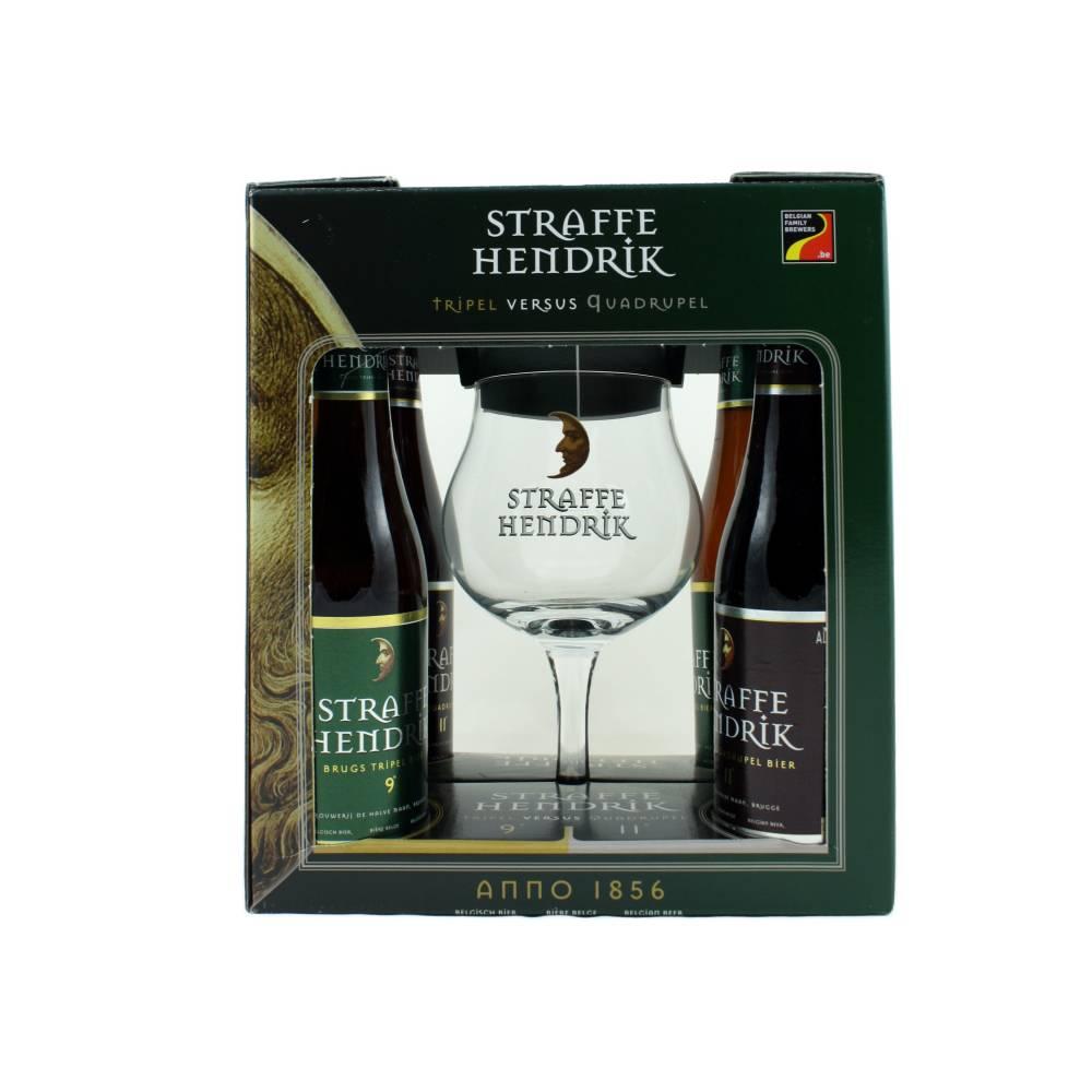 Coffret Straffe Hendrik 4x33 cl + 1 verre