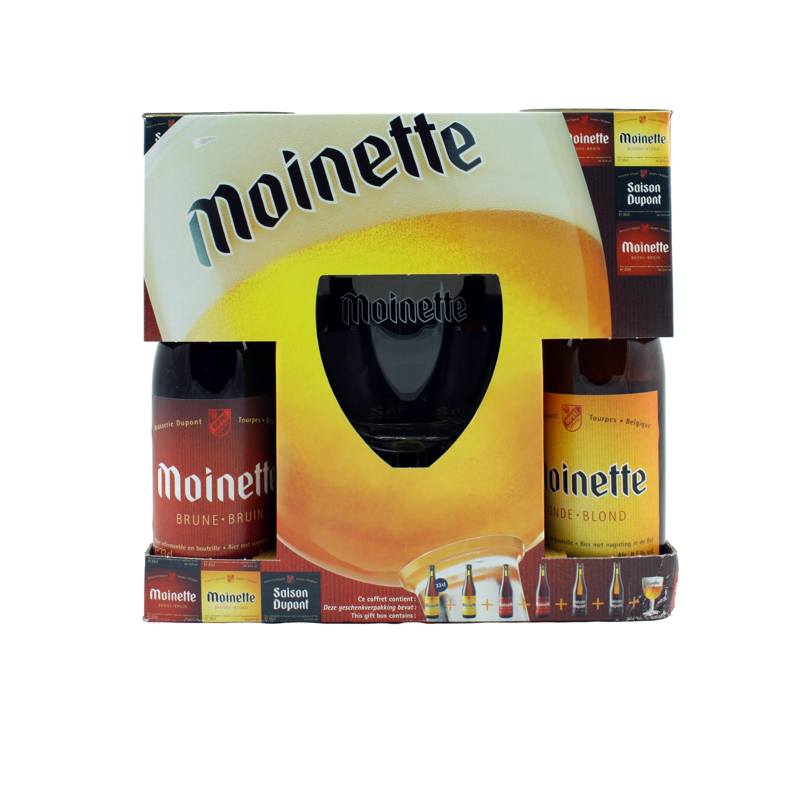 Coffret Moinette 6x33 cl + 1 verre