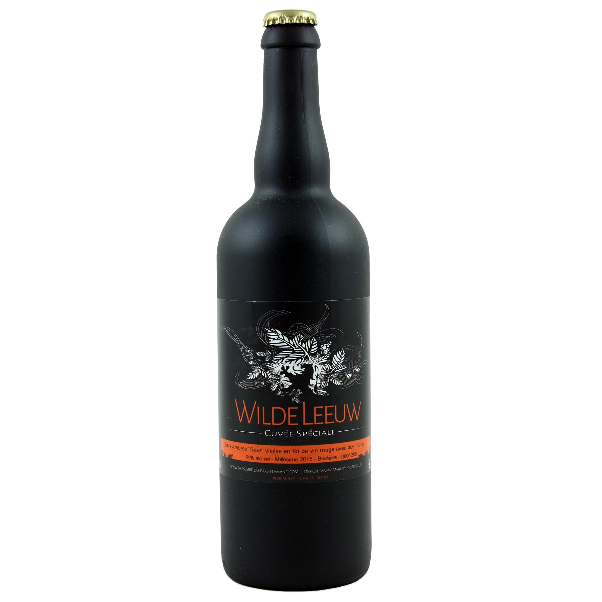 Wilde Leeuw Ambrée vieillie fût de vin rouge 75 cl