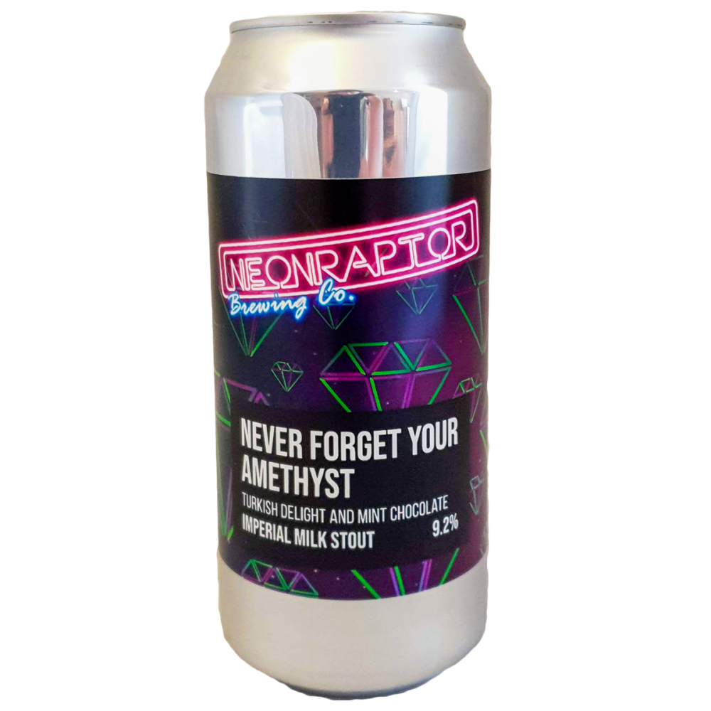 Never Forget Your Amethyst Imperial Stout - Neon Raptor Brewing Co