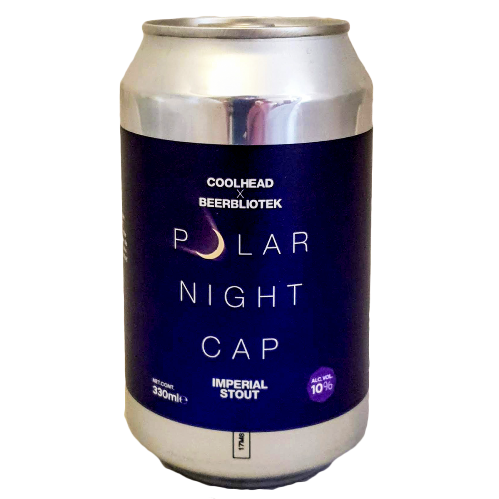Bière Polar Night Cap Imperial Stout - CoolHead Brew x Beerbliotek