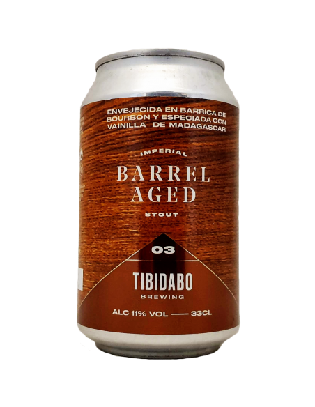Barrel Aged 3 Early Times Imperial Stout Bourbon - 33 cl - Tibidabo Brewing