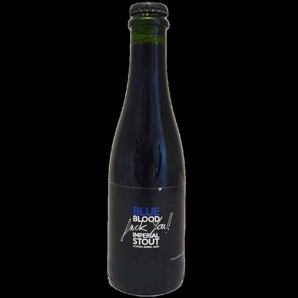 Blue Blood Fuck You!! La Calavera Brewing Imperial Stout Cognac Barrel Aged Bière Artisanale Espagne Bieronomy