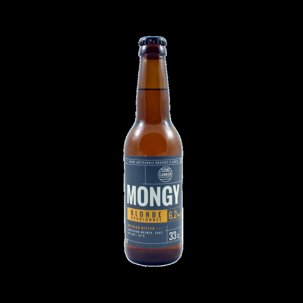 Bière Mongy Blonde Houblonnée 33 cl Brasserie Cambier