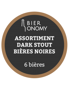 Assortiment Pack Dark Stout Bières Artisanales Noires Bieronomy