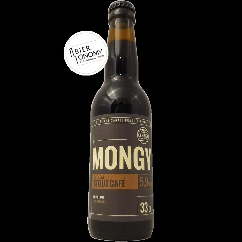 Bière Mongy Oatmeal Stout Café 33 cl Brasserie Cambier