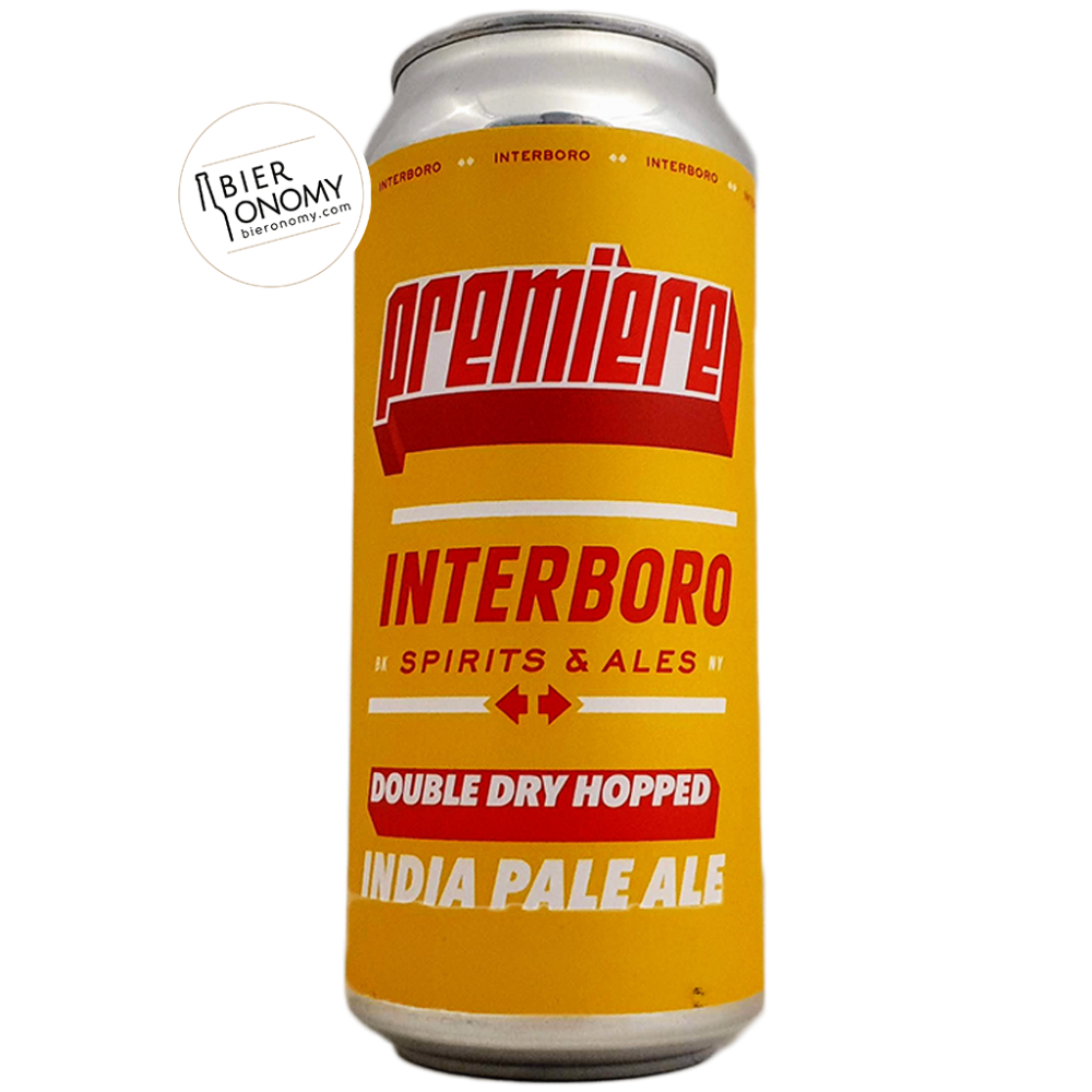 Bière Double Dry Hopped Premiere IPA 47,3 cl Brasserie Interboro Spirits & Ales Brewery
