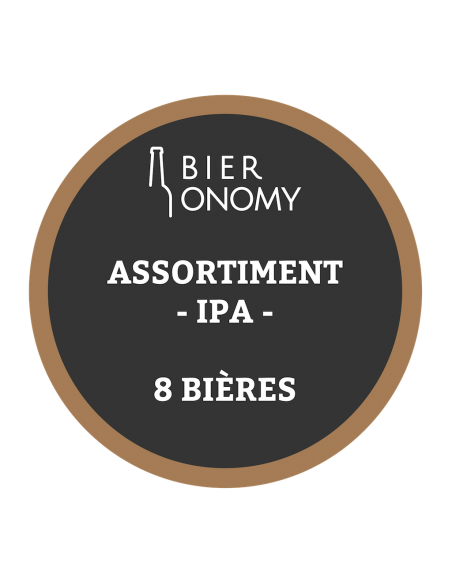 Assortiment IPA India Pale Ale Bières Artisanales Bieronomy Craft Beer